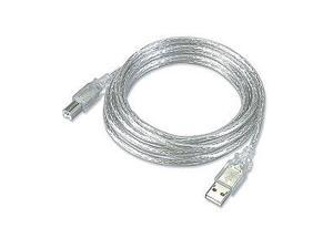 USB 2.0 Cable  A Male To B Male  Clear  3ft