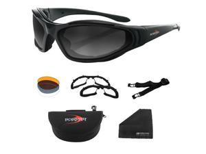 Raptor Ii Interchangeable, Black Frame, 3 Lenses