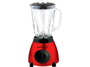 5 Speed Blender Stainless Steel Base with Glass Jar, Red
