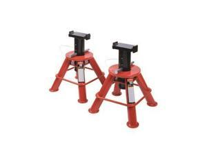 1210 10 Ton Low Height Pin Type Jack Stands (Pair)