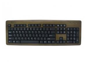 KBB103 Bamboo Designer Keyboard Walnut Color
