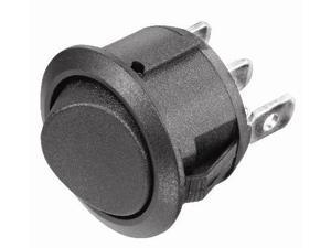 Snap-In Round Hole Rocker Switch - SPST Momentary On