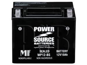 Power Source Battery WP12-BS (YTX12-BS Replacement) Sealed Battery 01-335 - 1 Year Manufacturer Warranty!