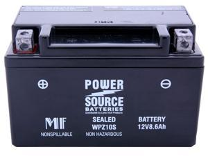 Power Source Battery WPZ10S (YTZ-10S Replacement) Sealed Battery 01-330 - 1 Year Manufacturer Warranty!