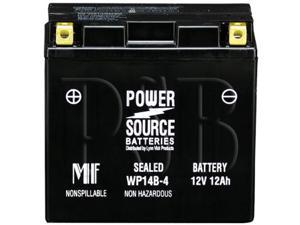 Power Source Batteries WP14B-4 (YT14B-BS Replacement) Sealed Maintenance Free Battery 01-343 - 1 Year Manufacturer Warranty!