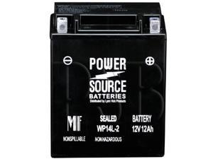 Power Source Batteries WP14L-2 (YTX14AHL-BS Replacement) Sealed Maintenance Free Battery 01-346 - 1 Year Manufacturer Warranty!