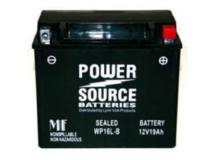 Power Source Batteries WP16L-BS Sealed Maintenance Free Battery 01-350 - 1 Year Manufacturer Warranty!