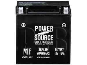 Power Source Batteries WPH16-A2 (YTX16BS Replacement) Sealed Maintenance Free Battery 01-348A - 1 Year Manufacturer Warranty!