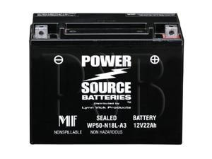 Power Source Batteries WP50-N18L-A3 Sealed Maintenance Free Battery 01-361 - 1 Year Manufacturer Warranty!