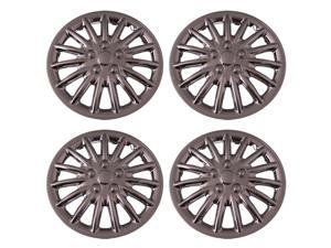 Set of 4 Chrome 13 Inch Aftermarket Replacement Hubcaps with Metal Clip Retention System - Aftermarket Part: IWC188/13C
