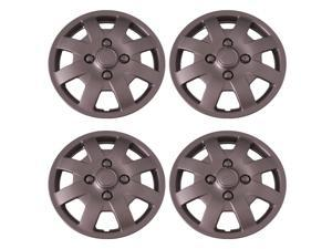 Set of 4 Silver 14 Inch Aftermarket Replacement Hubcaps with Metal Clip Retention System - Aftermarket Part: IWC408/14S