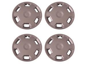 "Set of 4 Silver 15"" inch Universal (Replica of Versa Hubcaps) Wheel Covers with Clip Retention - Aftermarket: IWC447/15S"