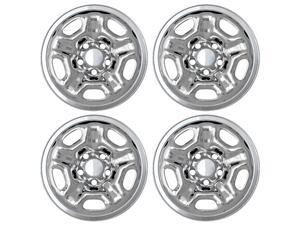 "Set of 4 Chrome 15"" Hub cap Wheel Skins: 2005-14 Toyota Tacoma Regular Cab 15x6 Inch 5 Lug Steel Rim - Aftermarket: IMP/66X"