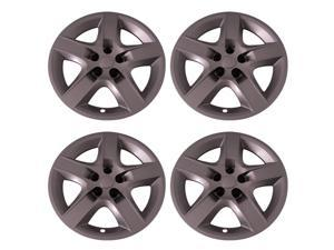 "Set of 4 Chevy Malibu & Pontiac G6 Bolt-on 17"" inch Silver Hub Cap 5 Spoke Wheel (Rim) Covers"
