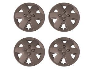 Set of 4 Silver 15 Inch Aftermarket Replacement Hubcaps with Metal Clip Retention System - Aftermarket Part: IWC432/15S