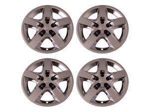 Set of 4 Chrome 17 Inch Chevy Malibu & Pontiac G6 Replacement Bolt On Retention System Hubcaps : IWC435/17C
