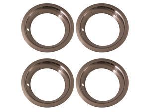 Set of 4 Stainless Steel 15 Inch Beauty Trim Rings with Metal Clip Retention System - Aftermarket Part: IWC1515D3