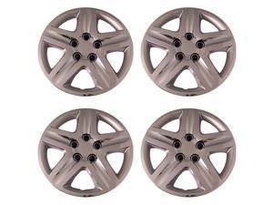 Set of 4 Chrome 16 Inch 5 Spoke Replica of Impala Hubcaps with Metal Clip Retention System - Aftermarket: IWC431/16C