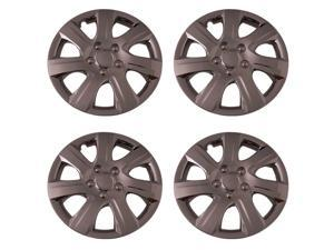 Set of 4 Chrome 16 Inch Replacement (Replica of Toyota Camry Hubcaps) w Wheel Covers Metal Clip Retention - Aftermarket: IWC445/16C