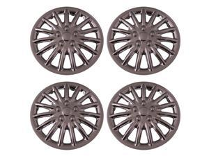 Set of 4 Chrome 17 Inch Aftermarket Replacement Hubcaps with Metal Clip Retention System - Aftermarket Part: IWC188/17C