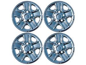 "Set of 4 Chrome 18"" Hub cap Wheel Skins w Center: 2007- 2014 Toyota Tundra 18x8 Inch 5 Lug Steel Rim -aftermarket: IMP/77X"