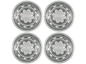 "Set of 4 17"" Chrome Hub Cap Wheel Skins: 2003 -2011 Dodge Ram 2500/ 3500 17x7 Inch 8 Lug 10 Rounded slots steel Rim: IMP/57X"