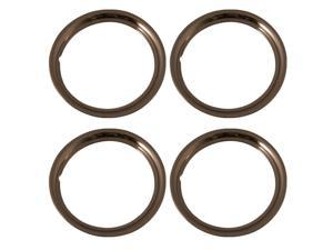 Set of 4 Stainless Steel 15 Inch Beauty Trim Rings with Metal Clip Retention System -  # IWC1515S