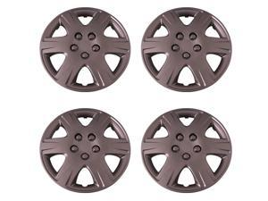 Set of 4 Silver 15 Inch Aftermarket Replacement Hubcaps with Metal Clip Retention System - Aftermarket Part: IWC422/15S