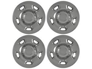 "Set of 4 17"" Chrome Hub Cap Wheel Skins w Center: 2004 -2010 Ford F150 17x7 Inch 6 Lug Steel Rim -aftermarket: IMP/59XN"