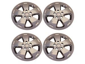 "Chrome 5 Flat Spoke 16"" inch Wheel Skin Hub Caps for 2006 - 2010 Chevrolet Impala"