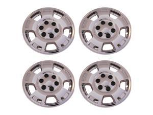 "4 New Chrome 5 Spoke 17"" Wheel Skin hub caps for 2007 - 2013 Chevy Avalanche, Silverado, Suburban & Tahoe -IMP347X"