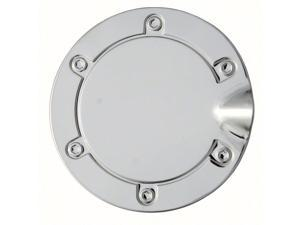 New Polished Stainless Steel Gas Cap Fuel Door Cover: 2007 to 2012 Dodge Caliber & 2007 to 2014 Jeep Compass #DC11