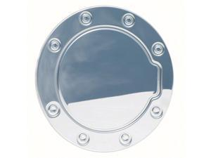 New Polished Stainless Steel Gas Cap Fuel Door Cover: 1992-1999 Chevy Suburban&#59; 1995-1999 Tahoe&#59; 1988-1998 Chevy C/K Pickup & GMC C/K SERIES Sierra