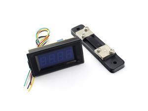 20V 50A DC Digital Blue LED Combo Panel Amp Meter Voltmeter Volt with Shunt