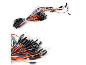 65pcs Solderless Flexible Breadboard plug Jumper Wires Bread board cable tie line Male to Male for arduino