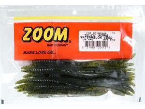 Zoom Soft Plastic Bass Fishing Bait 006-019 Trick Worm 20 PK Watermelon Seed
