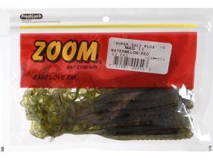 "Zoom Bass Fishing Bait 009-054 Super Salt+ 9"" Magnum II Worm Watermelon Red"