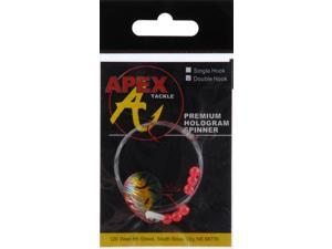 Apex Bass Fishing Lure SC3D-21-1 Hologram Spinner Rigs Sickle Hook Fire Tiger