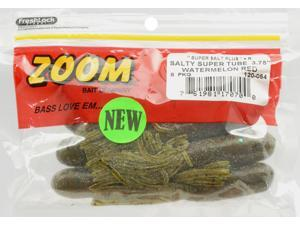 Zoom 120-054 Salty Super Tube 3 75 Watermelon Red Fishing Soft Plastic