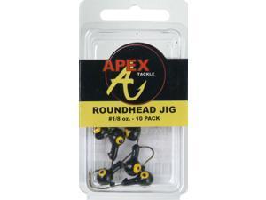 Apex Fishing RH18-7-10 Freshwater Round Jig Head 1/8 OZ Black
