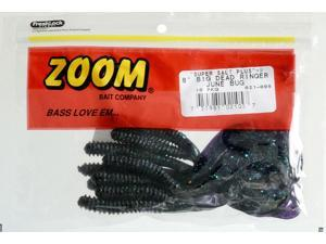 "Zoom Soft Plastic Fishing Bait 021-005 8"" Super Salt+ Big Dead Ringer Junebug"