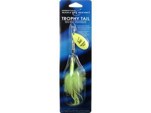 South Bend RT-CH Trophy Tail Chartreuse/ Chartruese Fishing Spinner