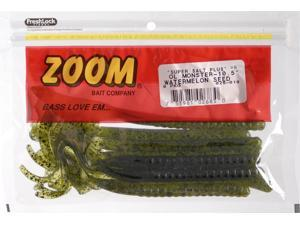 Zoom Bass Fishing Bait 026-019 Super Salt+ Ol' Monster Worm Watermelon Seed