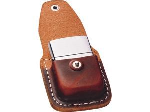 Zippo ZO17020 Lighter Lighter Pouch Brown Leather Attaches To Belt W/ Clip Light