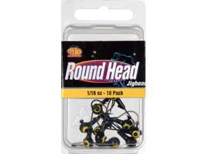 Apex Fishing RH16-7-10 Round Jig Head 1/16 OZ Black 10 Pack
