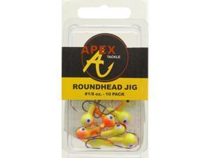 Apex Crappie Fishing AP18-10-1 Jig Heads 1/8 OZ 10 PK Chartruese/Orange