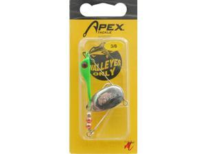 Apex WO-38FG 1T Frwd 3/8 OZ Fluorescent Green Walleye Fishing Spinner