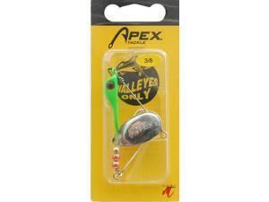 Apex WO-38FG 1T Frwd 3/8 OZ Fluorescent Green Walleye Fishing Spinner