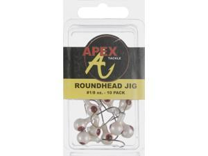 Apex AP18-10-5 Jig Heads 1/8 OZ 10 PK White Crappie Fishing Jighead