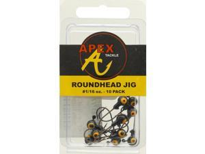 Apex Crappie Fishing AP116-10-7 Jig Heads 1/16 OZ 10 PK Black